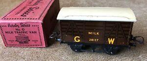 Hornby O Gauge 0 GW No.0 Milk Van Boxed GWR Great Western tinplate