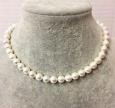Collana in Perle Naturale da Donna,Bianco ,Perla ,Conchiglia, 6,8,10mm