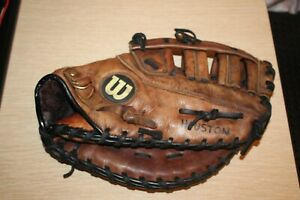 "WILSON Pro 12 3/4"" A0500 PBM Top Grade Leather RHT Baseball Glove Patina Vintage"