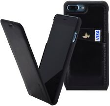 """Iphone 8 plus (5.5 """") Case Flip Style Leather Pouch Wallet Case Cover in Black"""