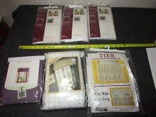 estate lot of 6 vintage window treatments tailored swags ballon valances etc.