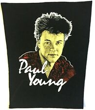 More details for paul young old og vtg 1980`s printed giant back patch rare sew on(not pin badge)