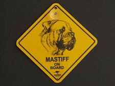Mastiff On Board Dog Breed Yellow Car Swing Sign Gift