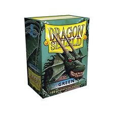 Dragon Shield Deck Protector Sleeves GREEN 100ct Standard Size MTG BRAND NEW!!