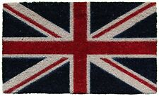 ZERBINO tappeto COCCO NATURALE 44x74 UK Union Jack Bandiera Inglese IDEA REGALO