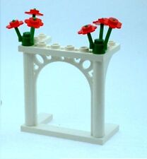 LEGO White Wedding Arch with Red Flowers for Bride and Groom Minifigs NEW
