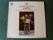 RAVEL - Le tombeau de Couperin - Miroirs / ANNE QUEFFELEC - LP ERATO STU 71038