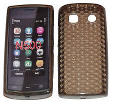 Cubierta De La Caja Silicone Gel TPU Negro Para Nokia 500