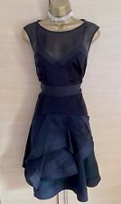 Exquisite Karen Millen Black Silk Multi Layer Dress UK10 Stunning