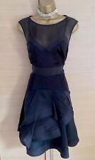 Exquisite Karen Millen Black Silk Multi Layer Dress UK10 Stunning
