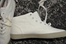 New Supra JM04 213 Mens White Hi-Top Ankle Casual Canvas Shoes Trainers UK 6