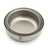 Keith Ti5376 Titanium Outdoor Camping Picnic Bowl Home Tableware