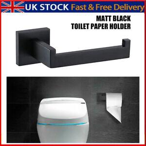 Matt Black Modern Bathroom Wall Accessories Square Toilet Roll Paper Holder Rack