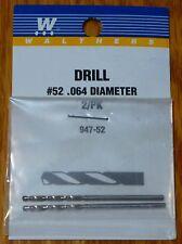 Walthers #947-52 Drill Bit (2 Pack) #52 .064 Diameter