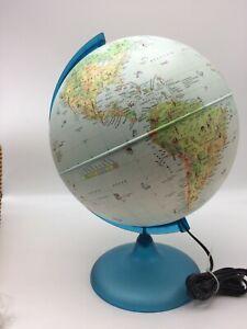 "Vintage Nova Rico Lumiere 18"" Lighted Globe Illuminated Earth Lamp"