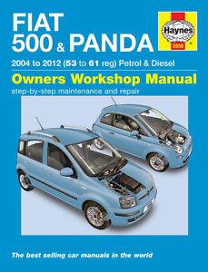 Fiat 500 & Fiat Panda 2004-2012 Haynes Manual 5558 NEW