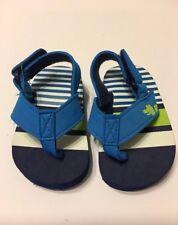 Boys Beach Flip Flops Shoe Size 5 Blue Kids