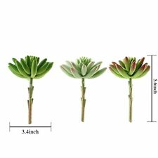 """Set of 3 6"""" tall Assorted Artificial Faux Spiky Succulent Picks Stems Wedding"""