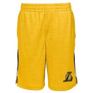 Outerstuff Los Angeles Lakers NBA Boys Kids Content Performance Shorts, Gold
