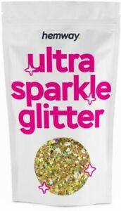 Large Gold Holographic Glitter 20ml 10g Chunky Mix Multi Dance Costume Flake