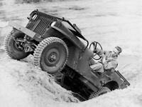 WW2 WWII Photo US Army Jeep Testing Early Model Jeep World War Two / 3164