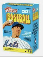 2021 MLB Topps Heritage Blaster Box Baseball SEALED New 🔥🔥