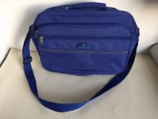 "Samsonite Blue Computer Laptop Briefcase Bag with Shoulder Strap 17"" x 12"""