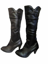Unbranded Buckle Knee High Boots Synthetic Shoes for Women