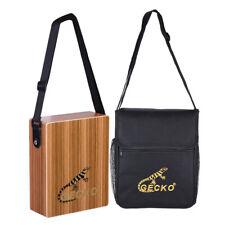 Gecko Traveling Cajon Box Drum Hand Drum Zebra Wood with Strap Carrying Bag U3W6