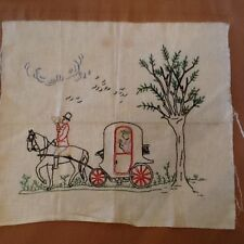 Antique Handcrafted Sampler - Ready to Frame, Add to a Quilt or Create a Pillow