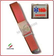 Cintura Canapa Gillo Fluo' Con Logo Vetrificato 118 Soccorso Sanitario