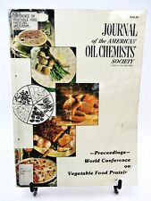 Journal American Oil Chemists' Society World Conference Vegetable Food  AOCS