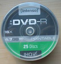 Intenso DVD-R -R Rohling 4.7 GB Printable 16x fach Original 25 Stück Bedruckbar