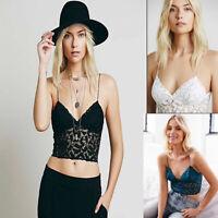 Sexy Women Crochet Lace Bralette Bra Boho Beach Bikini Cami Tank Crop Top