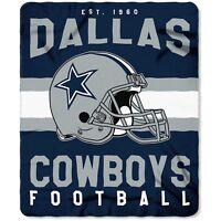 Dallas Cowboys NEW Licensed Fleece Throw Blanket Football Team 50'' X 60''