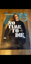 NO TIME TO DIE JAMES BOND 007 ORIGINAL UK ONE SHEET MOVIE POSTER APRIL. D/Sided.