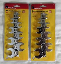 NEW 16 PC GREAT NECK CROW FOOT WRENCH SETS SAE & METRIC 2058 2059 CROWS FEET