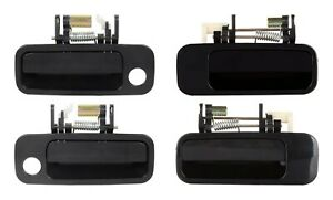 NEW Front & Rear Outside Door Handles Set 4 BLACK for 1997-2001 Toyota Camry