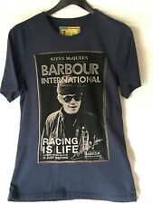 Barbour UK Steve McQueen Racing is Life T-Shirt NEW Unworn