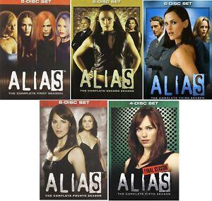 Alias Complete TV Series Seasons 1 2 3 4 5 (1-5) NEW DVD Set Bundle