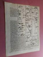 100% ORIGINAL KELSO TO BERWICK CARLISLE ROAD MAP BY BOWEN  C1720 VGC