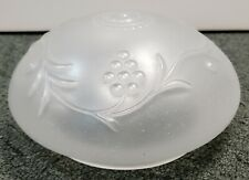 Circa 1940 Art Deco Frosted Glass Grapevine Motif Flush Mount Light Fixture