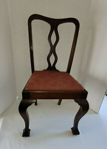 Salesman Sample Child's Chair Chippendale Style Ball Claw Feet Cabriole Legs