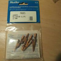 4pcs Mueller 60CS Copper Alligator Clips w/ Screw, Solder, Crimp, Banana Pin USA
