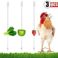 3Pack Chicken Veggies Skewer Fruit Holder for Hens Pet Chicken Vegetable Ha Q6I5