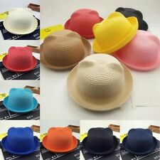 Summer Baby Cat Ear Cap Children Breathable Hat Straw Hat Kids Hat Boy Girls Hat