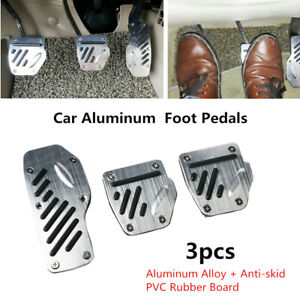 3PCS Car Accelerator Pedal Foot Pedals Pad Cover Non-slip Style For Brake Clutch