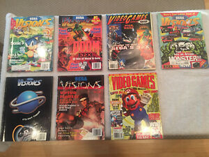 6 Sega Visions issues and 1 issue of Video Games: The Ultimate Gaming Magazine