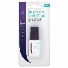 Elegant Touch Brush On Nail Glue False Nails Strong Bond 6ml