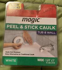 "Bathroom Kitchen Magic Tub Wall Peel Caulk Strip Tight Seal Tape 1-5/8""x11 White"